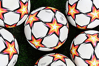 A group of Adidas official match balls are seen prior to the Uefa Champions League group D football match between FC Internazionale and Real Madrid at San Siro stadium in Milano (Italy), September 15th, 2021. Photo Andrea Staccioli / Insidefoto