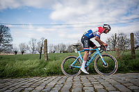 Mathieu Van der Poel (NED/Alpecin-Fenix) up the Paterberg<br /> <br /> 64th E3 Classic 2021 (1.UWT)<br /> 1 day race from Harelbeke to Harelbeke (BEL/204km)<br /> <br /> ©kramon
