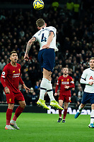 Tottenham's Toby Alderweireld defending the ball from Liverpool's Roberto Firmino <br /> <br /> Photographer Stephanie Meek/CameraSport<br /> <br /> The Premier League - Tottenham Hotspur v Liverpool - Saturday 11th January 2020 - Tottenham Hotspur Stadium - London<br /> <br /> World Copyright © 2020 CameraSport. All rights reserved. 43 Linden Ave. Countesthorpe. Leicester. England. LE8 5PG - Tel: +44 (0) 116 277 4147 - admin@camerasport.com - www.camerasport.com