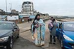 Greek community in England. Blessing the Sea Margate Kent  UK. Epiphany January 6th. The Very Revd. Archimandrite Vissarion Kokliotis.