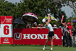CHON BURI, THAILAND - FEBRUARY 19:  Michelle Wie of USA tees off on the 6th hole during day three of the LPGA Thailand at Siam Country Club on February 19, 2011 in Chon Buri, Thailand. Photo by Victor Fraile / The Power of Sport Images
