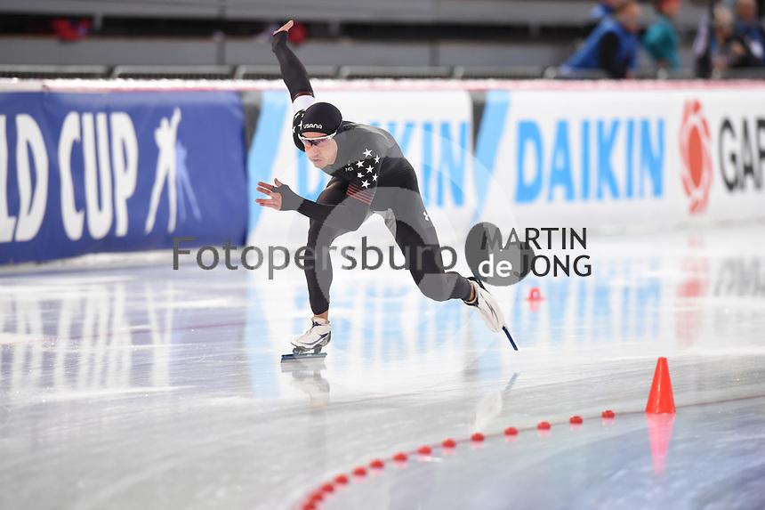 SPEED SKATING: HAMAR: Viking Skipet, 03-02-2019, ISU World Cup Speed Skating, Kimani Griffin (USA), ©photo Martin de Jong