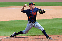 Bowling Green Hot Rods pitcher Kyle Goodbrand (17) delivers a pitch during a Midwest League game against the Wisconsin Timber Rattlers on July 22, 2018 at Fox Cities Stadium in Appleton, Wisconsin. Bowling Green defeated Wisconsin 10-5. (Brad Krause/Four Seam Images)