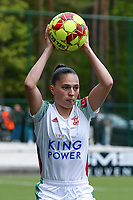 Jill Janssens (7) of OHL gets ready for a throw in during a female soccer game between Oud Heverlee Leuven and AA Gent Ladies on the 9 th matchday of play off 1 in the 2020 - 2021 season of Belgian Womens Super League , saturday 22 nd of May 2021  in Heverlee , Belgium . PHOTO SPORTPIX.BE   SPP   SEVIL OKTEM