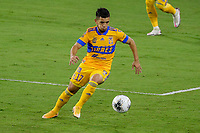 22nd December 2020, Orlando, Florida, USA;  Tigres Leonardo Fernandez controls the ball during the Concacaf Championship between LAFC and Tigres UANL on December 22, 2020, at Exploria Stadium in Orlando, FL.