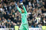 Real Madrid's Keylor Navas celebrates goal during La Liga match. March 1,2017. (ALTERPHOTOS/Acero)