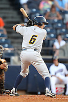 Trenton Thunder outfielder Raymond Kruml #6 during a game against the Akron Aeros at Canal Park on July 26, 2011 in Akron, Ohio.  Trenton defeated Akron 4-3.  (Mike Janes/Four Seam Images)
