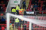 St Johnstone v Hamilton Accies…19.01.19…   McDiarmid Park    Scottish Cup 4th Round<br />Stewards escort some Accies fans out of ground in the first half<br />Picture by Graeme Hart. <br />Copyright Perthshire Picture Agency<br />Tel: 01738 623350  Mobile: 07990 594431