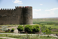 Diyarbakir city walls, southeastern Turkey: looking out from near the Mardin Gate towards the Tigris