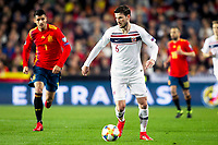 Spain's Alvaro Morata and Norway's Havard Nordtveit  during the qualifying match for Euro 2020 on 23th March, 2019 in Valencia, Spain. (ALTERPHOTOS/Alconada)<br /> Valencia 23-03-2019 <br /> Football Qualifying match Euro2020<br /> Spain Vs Norway <br /> foto Alterphotos/Insidefoto <br /> ITALY ONLY