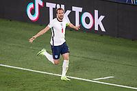 3rd July 2021, Stadio Olimpico, Rome, Italy;  Euro 2020 Football Championships, England versus Ukraine quarter final;  Harry Kane England celebrates his goal for 0-3 Rome