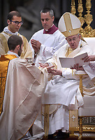 Pope Francis,ordained new priests ceremony in St.Peter Basilica at the Vatican. on May 7, 2017