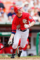 15 June 2006: Robert Fick, outfielder for the Washington Nationals, watches one fly against the Colorado Rockies at RFK Stadium, in Washington, DC. The Rockies defeated the Nationals, 8-1 to sweep the four-game series...Mandatory Photo Credit: Ed Wolfstein Photo...