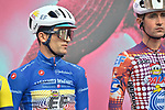 Maglia Azzurra Ruben Guerreiro (POR) EF Pro Cycling at sign on before the start of Stage 13 of the 103rd edition of the Giro d'Italia 2020 running 192km from Cervia to Monselice, Italy. 16th October 2020.  <br /> Picture: LaPresse/Massimo Paolone | Cyclefile<br /> <br /> All photos usage must carry mandatory copyright credit (© Cyclefile | LaPresse/Massimo Paolone)