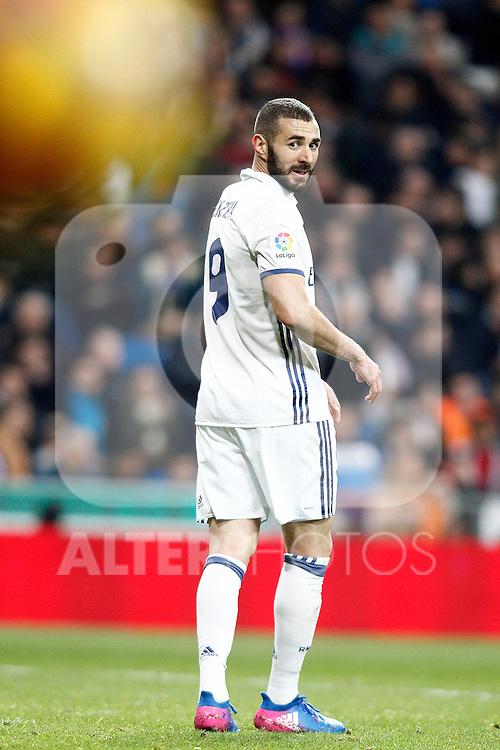 Real Madrid's Karim Benzema during La Liga match. March 1,2017. (ALTERPHOTOS/Acero)