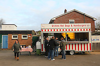 Spectators queue at the tea bar ahead of kick-off - AFC Hornchurch vs Wingate & Finchley - Ryman League Premier Division Football at Hornchurch Stadium, Bridge Avenue, Upminster, Essex - 30/11/13 - MANDATORY CREDIT: Gavin Ellis/TGSPHOTO - Self billing applies where appropriate - 0845 094 6026 - contact@tgsphoto.co.uk - NO UNPAID USE