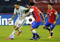 3rd June 2021; Estadio Único de Santiago del Estero, Santiago del Estero, Argentina; World Cup football qualification, Argentina versus Chile; Lucas Ocampos of Argentina takes on Charles Aránguiz of Chile