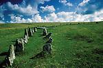 Prehistoric Double Stone Row. Shovel Down,  Nr Chagford, Dartmoor, Devon England