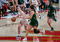 COLLEGE PARK, MD - DECEMBER 8: Taylor Mikesell #11 of Maryland on the attack during a game between Loyola University and University of Maryland at Xfinity Center on December 8, 2019 in College Park, Maryland.