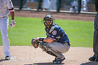 Blake Lalli (21) of the Reno Aces on defense against the Salt Lake Bees in Pacific Coast League action at Smith's Ballpark on May 10, 2015 in Salt Lake City, Utah.  Reno defeated Salt Lake 11-2 in Game Two of the double-header. (Stephen Smith/Four Seam Images)