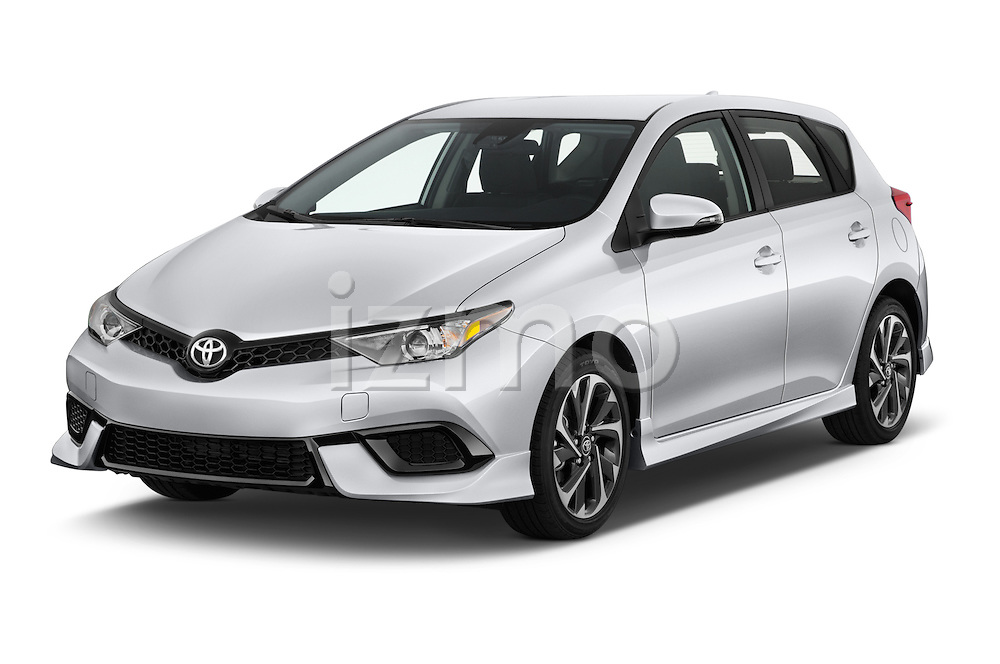 2018 Toyota Corolla-iM CVT-Automatic 5 Door Hatchback Angular Front stock photos of front three quarter view