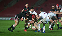 Wales James Botham charges towards the try line<br /> <br /> Photographer Ian Cook/CameraSport<br /> <br /> 2020 Autumn Nations Cup - Wales v Georgia - Saturday 21st November 2020 - Parc y Scarlets - Llanelli - Wales<br /> <br /> World Copyright © 2020 CameraSport. All rights reserved. 43 Linden Ave. Countesthorpe. Leicester. England. LE8 5PG - Tel: +44 (0) 116 277 4147 - admin@camerasport.com - www.camerasport.com