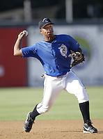 Jose Lopez of the San Bernardino Stampede before a California League 2002 season game at San Manuel Stadium, in San Bernardino, California. (Larry Goren/Four Seam Images)