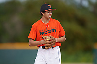 Sebastian Jones (63), from Mount Pleasant, Michigan, while playing for the Orioles during the Baseball Factory Pirate City Christmas Camp & Tournament on December 28, 2017 at Pirate City in Bradenton, Florida.  (Mike Janes/Four Seam Images)