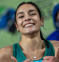 2nd May 2021; Silesian Stadium, Chorzow, Poland; World Athletics Relays 2021. Day 2; Irish athlete Kate Doherty all smiles after winning silver medal in the women's 4 x 200