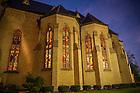 Nov. 10, 2014; The Basilica of the Sacred Heart at dusk. (Photo by Barbara Johnston/University of Notre Dame)