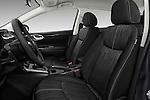 Front seat view of 2017 Nissan Sentra SV 4 Door Sedan Front Seat  car photos