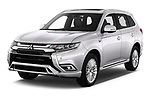 2018 Mitsubishi Outlander PHEV Instyle 5 Door SUV angular front stock photos of front three quarter view