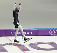 OLYMPIC GAMES: PYEONGCHANG: 09-02-2018, Gangneung Oval, Training, 5-time Olympian Shani Davis (USA), ©photo Martin de Jong