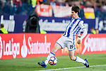 Aritz Elustondo of Real Sociedad in action during their La Liga match between Atletico de Madrid vs Real Sociedad at the Vicente Calderon Stadium on 04 April 2017 in Madrid, Spain. Photo by Diego Gonzalez Souto / Power Sport Images