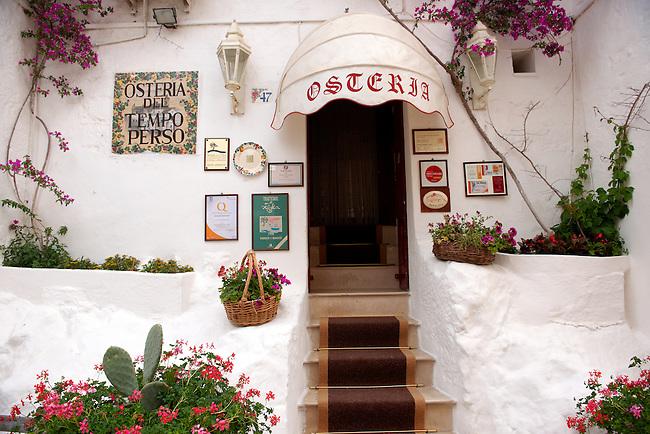 Osteriao dell Tempo perso, the white city of Ostuni, Puglia, South Italy.