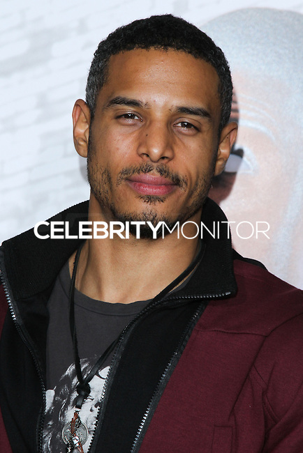 """HOLLYWOOD, CA - JANUARY 13: Travis Winfrey at the Los Angeles Premiere Of Universal Pictures' """"Ride Along"""" held at the TCL Chinese Theatre on January 13, 2014 in Hollywood, California. (Photo by David Acosta/Celebrity Monitor)"""