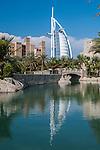 View of Burj Al-Arab from the Souk Madinat Jumeirah, Dubai., United Arab Emirates, United Arab Emirates