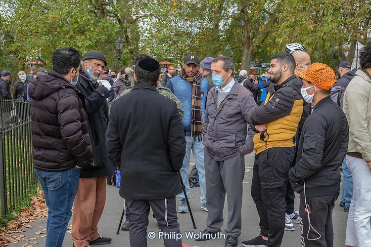 Speakers' Corner, Hyde Park, London during the Coronavirus pandemic.