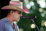 Dustin Lynch performs at the TJ's Corral Outdoor Events Center at the Carson Valley Inn in Minden, Nev., on Thursday, June 12, 2014.<br />