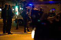 20/04/2017, Paris, France - Terror Attack Champs Elysee, police officer and suspect shot dead on Champs Elysees in attack claimed by Islamic State, one tourist woman injured, another french police officer badly injured, Paris, France, French army soldiers # FUSILLADE CONTRE DES POLICIERS SUR LES CHAMPS-ELYSEES