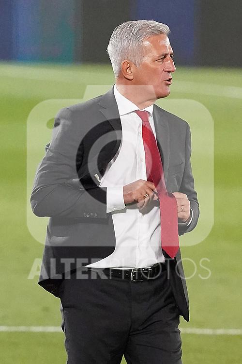 Switzerland's coach Vladimir Petkovic during UEFA Nations League 2020 League Phase match. October 10,2020.(ALTERPHOTOS/Acero)