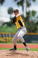 Pittsburgh Pirates pitcher Billy Roth (75) during an instructional league intrasquad black and gold game on September 18, 2015 at Pirate City in Bradenton, Florida.  (Mike Janes/Four Seam Images)