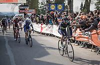 Alejandro Valverde (ESP/Movistar) wins his 5th Fléche on top of the infamous Mur de Huy ahead of Dan Martin (IRE/Quickstep Floors) & Dylan Teuns (BEL/BMC)<br /> <br /> 81st La Flèche Wallonne (1.UWT)<br /> One Day Race: Binche › Huy (200.5km)