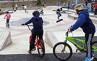 ALTERED STATE PHOTO ESSAY/ANDREW SHURTLEFF<br /> The street course was filled with riders last April on opening day of the new Charlottesville skatepark.<br /> <br /> Shut downs and stay-in-place orders, the most recent of which came from Gov. Ralph Northam Monday, have left Charlottesville dormant. Students have been sent home, many businesses have shut their doors and events have been canceled. In this photo essay, photographer Andrew Shurtleff has spent time capturing the effects of the pandemic and comparing the duality of the present with our social past.