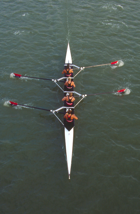 US Women's Four, W4-, FISA 2002 World Rowing Championships, Seville, Spain, Crew from bow: Katie Hammes, Whitney Webber, Kate Ronkainen, Wendy Wilbur, 5th place: 6:35.29