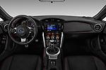 Stock photo of straight dashboard view of a 2017 Subaru BRZ Sport Premium 2 Door Coupe