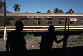 Railway workers at Cienfuegos station.