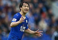 Shinji Okazaki of Leicester City during the Barclays Premier League match between Leicester City and Swansea City played at The King Power Stadium, Leicester on 24th April 2016