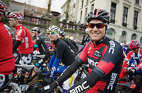 Greg Van Avermaet (BEL) before the start<br /> <br /> Omloop Het Nieuwsblad 2014