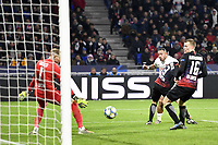11 MEMPHIS DEPAY (OL) - BUT<br /> Lione 10-12-2019 <br /> Lyon vs Leipzig <br /> Champions League 2019/2020<br /> Photo Anthony Bibard / Panoramic / Insidefoto <br /> Italy Only